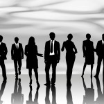Black and White Pic of Business People